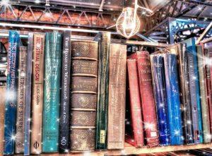 Boeken lezen en wijn degusteren
